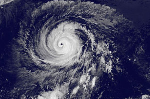 eye of the hurricane NASA